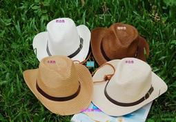 現貨供應👒大人款上架囉『瑞小貝🎀市集』夏季新款親子皮帶釦牛仔帽 禮帽 紳士帽 親子草帽 男童草帽