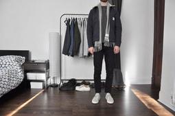 NYChic 全新正品 Our Legacy 瑞典 北歐設計 簡約俐落 碳灰黑白條紋 刷毛圍巾 Eugene Tong