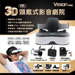 【買就送蘋果或安卓充電線】zcity Vision HMD 3D頭戴式影音劇院 HD高畫質 立體環繞音效 現貨 出貨快速