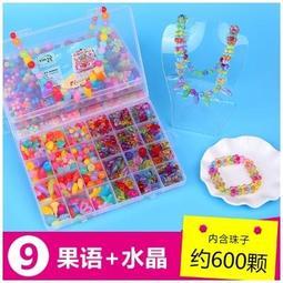 兒童串珠玩具 串珠手鏈/項鏈/多功能使用 【果語+水晶】