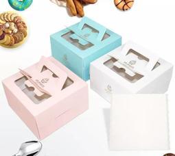 純色小6吋蛋糕盒5入裝