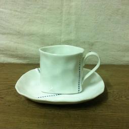 WH5747【四十八號老倉庫】全新 早期 日本 TEIEN 點線面 三角造型 個性 200cc 咖啡杯 1杯價