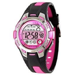 【好實用】最新款JAGA 捷卡都會潮流運動電子錶-黑粉