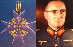 """世界大戰~德國空軍""""藍色馬克斯~功勳勳章""""雙面 深藍款"""