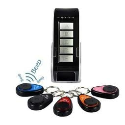 一拖五鑰匙尋找器key finder電子防盜防丟器1托5手機尋物器