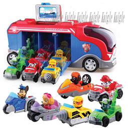 【Kaigle】汪汪隊立大功 狗狗巡邏隊 救援車 套裝小狗 變形 兒童玩具 巴士 任務車 耶誕禮物 生日禮物
