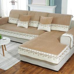 沙發套-冬季毛絨沙發墊現代簡約布藝坐墊子防滑全包萬能沙發套罩巾通用型