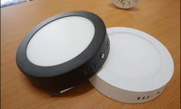 圓石LED吸頂燈 12W/鋁合金設計 浴室燈 陽台燈 走廊過道燈 超薄吸頂燈