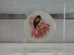 早期手工蘇繡 玻璃立飾 江蘇愛濤