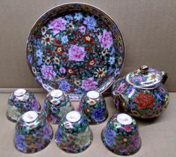 鎏金陶瓷 茶壼組