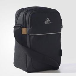 [全新] Adidas 黑色 高強度布料 肩背包 斜背包 斜肩包 側背包 隨身包 郵差包 小包 AJ4231
