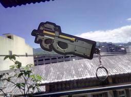 [PVC] P90  PVC PATCH 軟膠章 黑色 粉紅色 魔鬼氈 鑰匙圈  粉紅惡魔 GGO 刀劍神域 外傳 動漫
