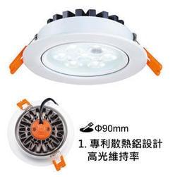 萬華好商量~舞光 LED 8W 崁燈 15組免運 附發票 9公分 9cm 桶燈 漢堡燈 投射燈