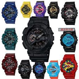 全新正品CASIO G-SHOCK 運動手錶學生電子錶雙顯夜光防水男女錶GA-100-110系列多功能手錶 卡西歐 熱賣