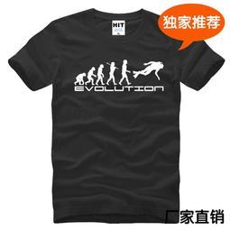 創意純棉男式短袖T恤 進化論 Scuba Diver Evolution 潛水 運動