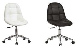 【南洋風休閒傢俱】時尚造型辦公椅系列-小而巧白/黑色造型轉椅 JX286-4-5