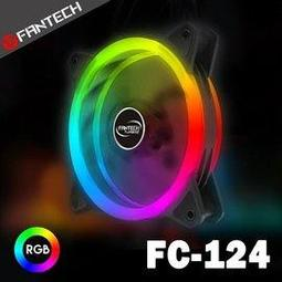 SL《FANTECH》FC-124 雙光圈RGB燈效靜音風扇 靜音發光 12cm 散熱風扇 可串聯風扇