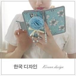 蘋果 iPhoneX iPhone8 i7 i6s iPhoneXS Max XR 手機皮套 皮套 韓系 藍色雛菊系列