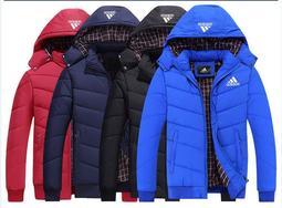 M-6XL 四色愛迪達 adidas 三葉草棉衣 阿迪外套 外套 純棉外套 保暖外套 運動外套 加厚連帽外套1739