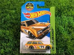 HOTWHEELS 風火輪 1:64 美版 '71 Datsun Bluebird 510 Wagon 黃色