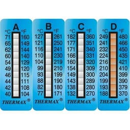 【大樂倉】英國進口 Thermax 十格溫度貼紙/感溫貼紙/測溫貼紙/溫度貼紙/溫度標籤/溫度變色貼紙/ 卡鉗溫度貼紙