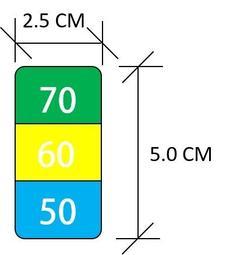 【大樂倉】現貨供應中- 溫度貼紙,多重用途,可用於、奶泡拉花、 機電設備過熱預警,娃娃機,感溫貼紙 ,測溫貼紙,可逆式