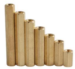 【佑齊企業 iCmore】M2.5*6mm 六角雙通銅柱 六角隔離柱 / 六角雙母銅螺柱--50入/包 (含稅)