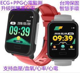 ECG+PPG升級版雙重心率監測心電圖智慧手環E33運動腕表智慧手錶血壓/血氧監測支援line 台灣保固+現貨