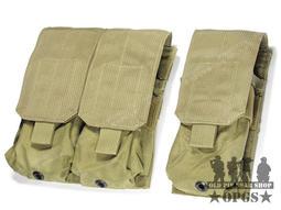 ☆ OPGS ☆ 美軍公發 Eagle M4 / M16 單加雙 / 三聯 彈匣袋 - KH