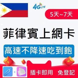 【✈菲律賓神卡】:菲律賓上網卡 高速不降速吃到飽  5天 / 7天上網卡