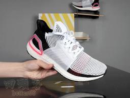 回頭客 adidas Ultra Boost 19 UB5.0 白黑粉 針織 休閒 運動 B37703