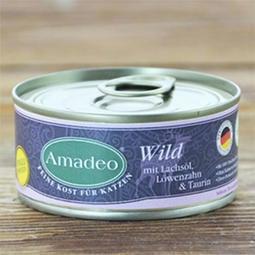 >幸福貓棧<阿瑪德 Amadeo 貓咪全肉主食罐-野生鹿肉 100克 德國原裝進口 貓主食罐