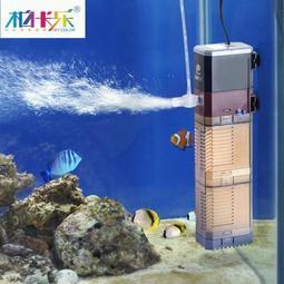 免運魚缸過濾器潛水泵三合一過濾設備氧氣泵內置過濾器魚缸水泵增氧泵   星隕閣