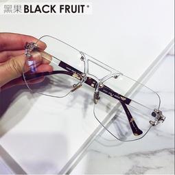 墨鏡男士潮人透明眼鏡2018新款大框眼鏡女網紅款多邊形個性太陽鏡  #j3919  東方麗人