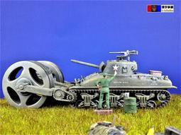 [環宇爭藏] 1/72 二戰美軍 M4A1 雪曼(Sherman)掃雷戰車 魯爾包圍區戰線場景 完成品 現貨