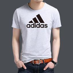 夏日新款 adidas 三葉草短袖T恤 愛迪達 休閒 短袖 T恤 大logo 圓領 Adidas短T 經典款