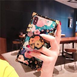 兔行者 現貨新品 日韓風 方形 牡丹 玫瑰花 華為 P20 P20PRO NOVAE 手機殼 全包 防摔 硅膠保護套