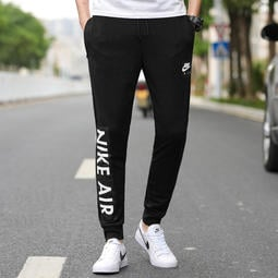 S-3XL兩色Nike 耐吉 長褲 運動褲 慢跑褲 休閒運動褲子 純棉 縮口褲 束口 情侶款 學生 褲子928638