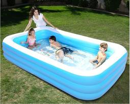 超大號兒童游泳池家用加厚寶寶充氣水池嬰兒 紫羅蘭