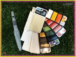 UMAE 奧馬旅行者口袋水彩顏料 - 18色 / 塊狀水彩