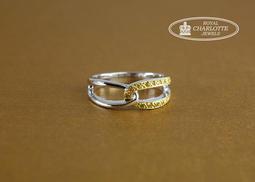 天然彩黃鑽石戒指