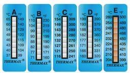 【大樂倉】英國進口 Thermax 八格 溫度貼紙,感溫貼紙/測溫貼紙/溫度貼紙/溫度標籤/溫度變色貼紙/表面溫度貼