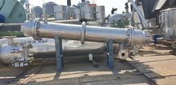 日本外匯 中古白鐵殼管熱交換器 傳熱面積3米平方