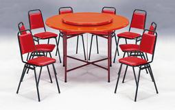 【上丞辦公家具】台中免運  FRP餐桌 辦桌用餐桌  圓桌 拜拜供桌 纖維餐桌 團圓桌 轉盤餐桌 餐椅 261-5