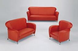 【上丞辦公家具】台中免運 小天使沙發組整組 沙發組 單人沙發 雙人沙發 三人沙發 紅皮沙發 紅沙發 169-4